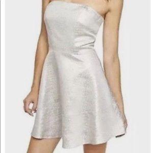 EXPRESS Silver Strapless Dress Size 0